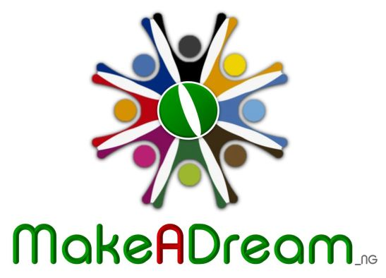 MakeADream Flat Logo White Large